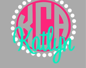 Monogram decal with name