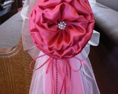 Set of 6 Fuchsia Hot Pink Pew Bows Chair Bows Wedding Bows Pew Church Aisle Decorations