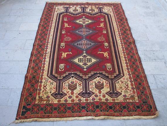 Oriental Area Rug Floor Carpet Kelim 5 X 8 Ft Very Fine Large Turkish Kilim