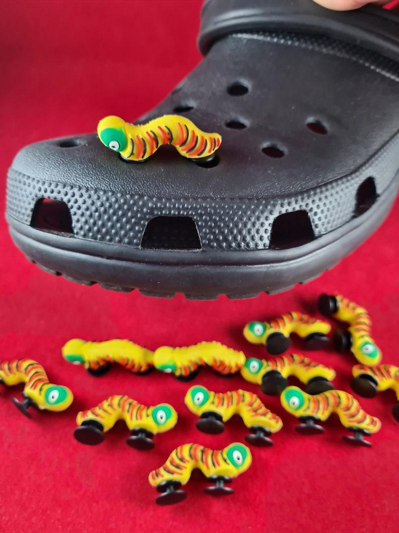1pc Caterpillar 3D Shoe Charms Accessories Shoe Buckle Decoration for crocs decoration