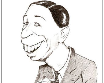 Greeting Card - George Formby Caricature