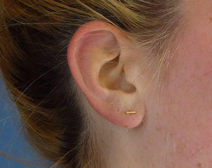 Horizontal ear bar - Single Earring