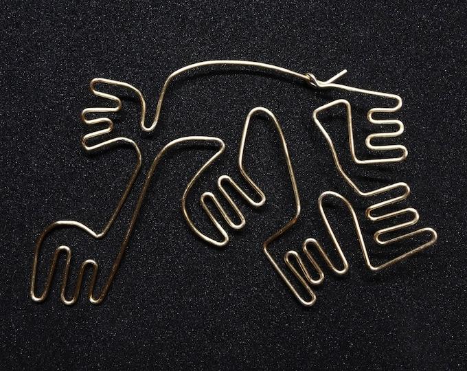 Nazca inspired earrings