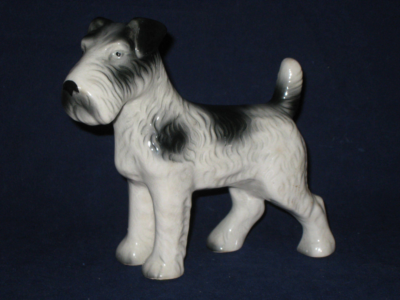 Terrier Figurine/Ceramic Porcelain Dog/VIntage Wire Haired   Etsy