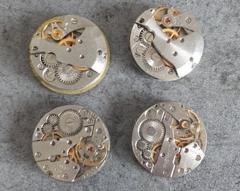 lot 4 vintage 20mm gear steampunk watch gear