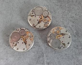 lot 3 antique 18mm gear steampunk watch gear