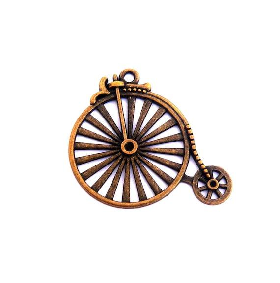 LOT de 3 BICYCLETTE VÉLO Bronze  25 x 20 mm  CHARM BRELOQUE 018 PENDENTIF