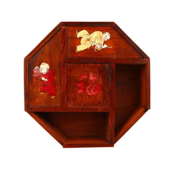 Antique Rosewood Jewelry Sewing Box