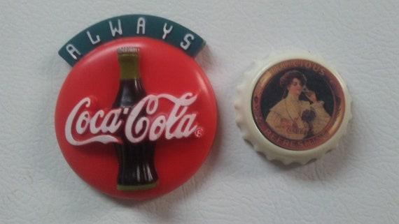 Kühlschrank Coca Cola : 2 coca cola magnete vintage kühlschrank magnete 1990er etsy