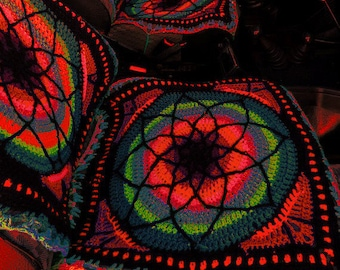 Custom Colored Crocheted Seat Covers