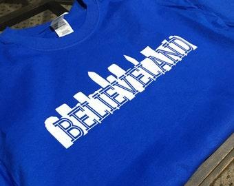 Believeland Cleveland Indians Adult Mens Womens tshirt t shirt s m l xl Indians
