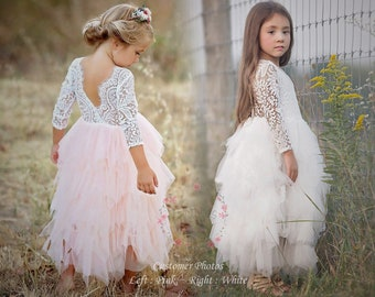 Vintage Boho Flower Girl Dresses