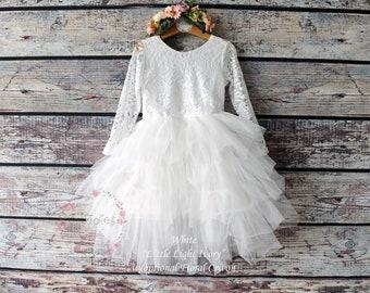 9166cebaa1 Lace flower girl dress