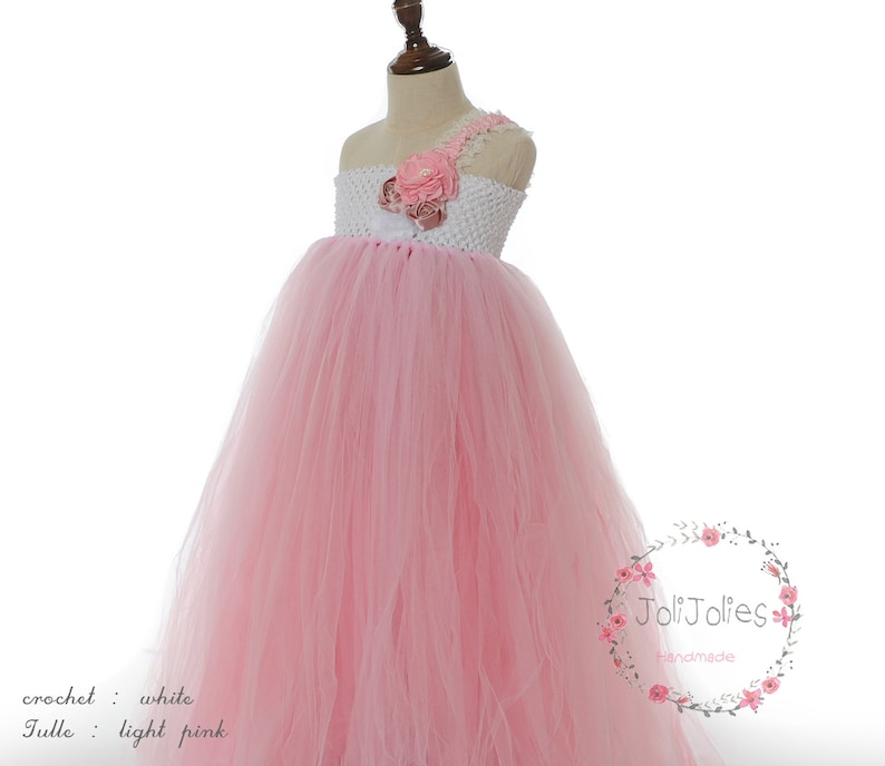 281df8f383e Customized Coral Flower Girl Dress Coral Tutu Dress Coral