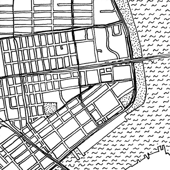 Chinatown | Lower East Side | NYC Street Grid | Hand drawn map | 01.04
