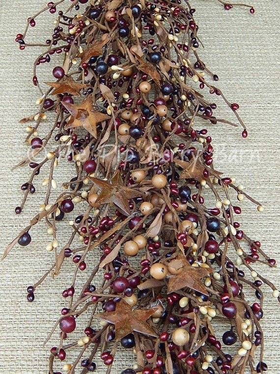 """Set of 50 ~ Primitive 7/"""" 7 inch SAGE Pip Berry Garland Picks Country Craft Decor"""