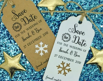 snowflake save date etsy
