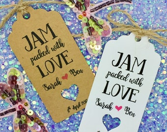 Jam Favour Wedding Gift Tag, Personalized, Spread The Love