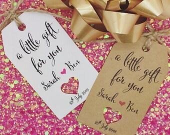 Bridesmaids, Bridal Shower Wedding Favour Gift Tags, Guest Label Kraft, Groomsmen