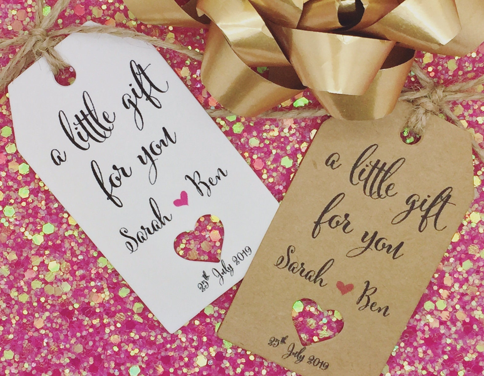 Bridesmaids Bridal Shower Wedding Favour Gift Tags Guest