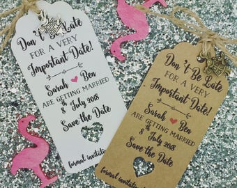 Alice in Wonderland Save The Date /Evening Card Wedding Invitation Personalised