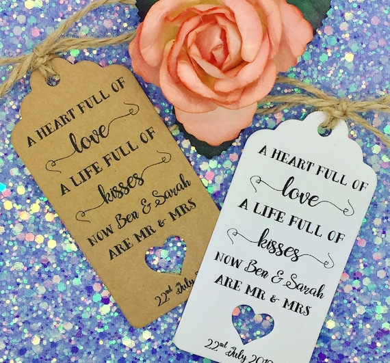 Guest Label Kraft Wedding Favours Thank You Gift Tags