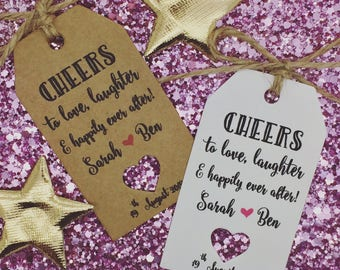Cheers Wedding Favour Gift Tags, Alcohol Favour, Take a Shot