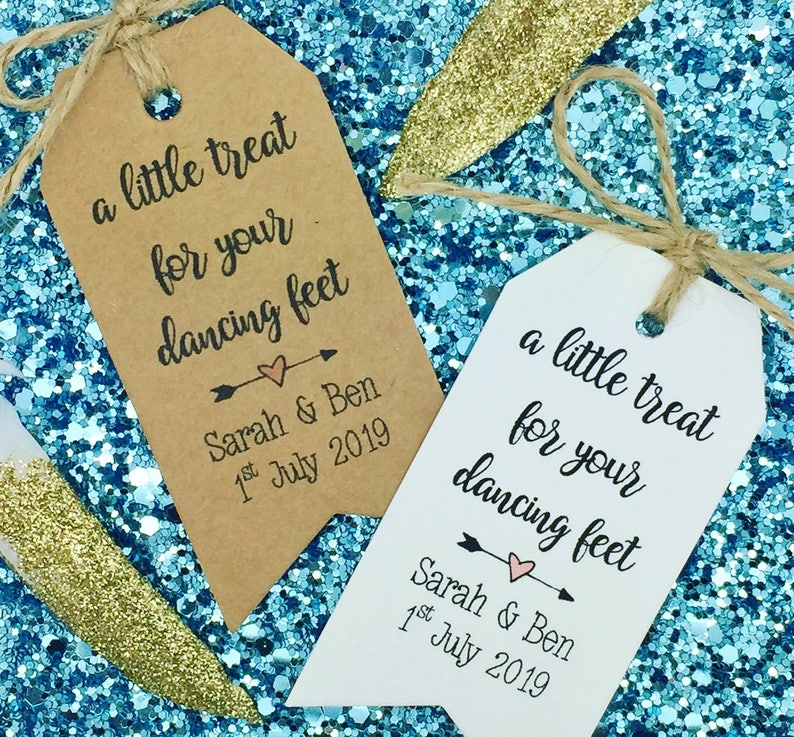 a07948f2a3817 Flip Flops   Dancing Shoes Gift Tag Wedding Favour A Little