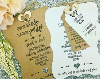 Rustic Wedding Invitation, Vintage Wedding Invitation, We Do