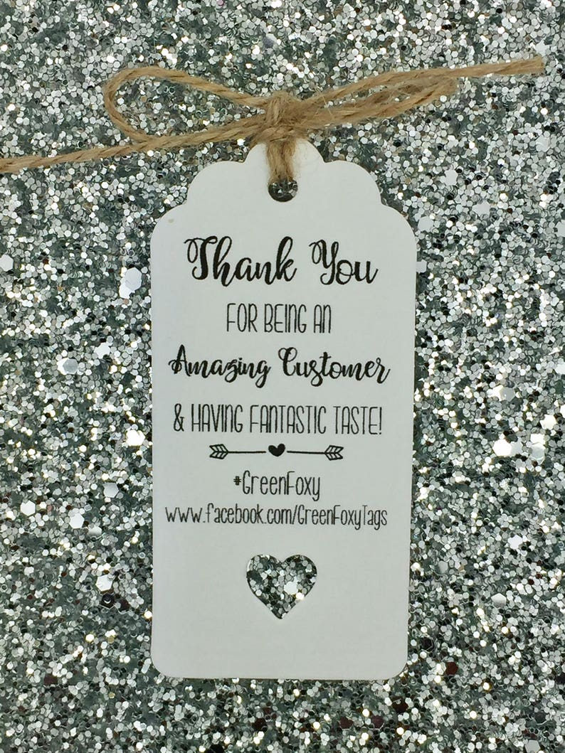 Personalised Packaging Labels Business Compliment Slips Thank You Order For Your Tags  Cards