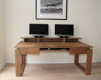 Walnut Desk with artisan accents