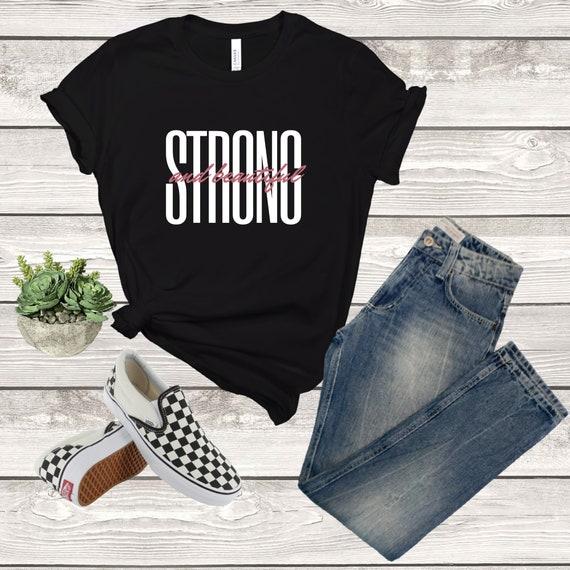 Frauen Shirt / stark und schön Shirt   Etsy
