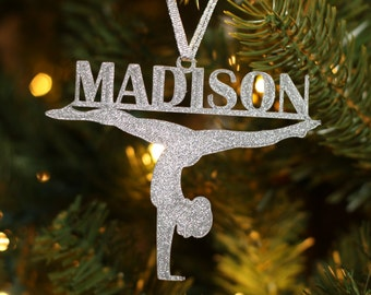 Personalized Gymnastics Ornament - Gymnast Ornament - Christmas Ornament - Gymnastics - Christmas Gift - Custom Ornament - Name