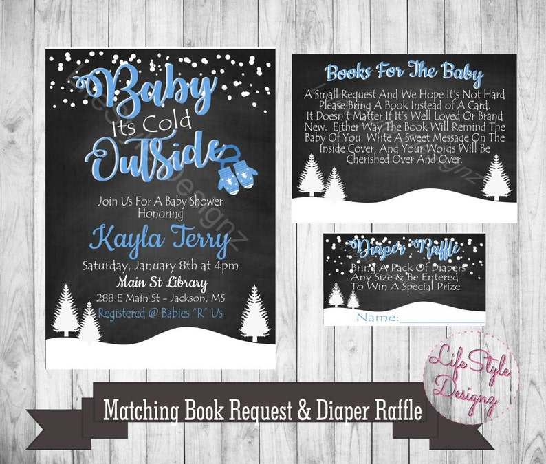 32e5d5230 Baby Its Cold Outside Baby Shower Invitation Baby Boy