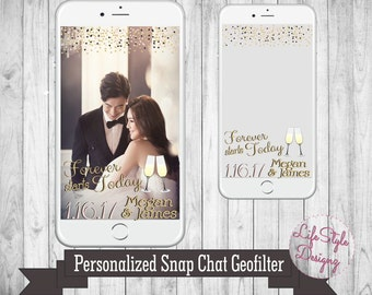 Wedding Snapchat Geofilter - Forever Starts Here - Snapchat Filter - Personlized Wedding Day- Custom Wedding Filter -Snap Chat Geofilter