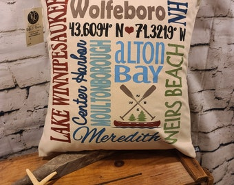 "Lake Winnipesaukee 17"" Pillow"