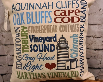"Martha's Vineyard 17"" Pillow"