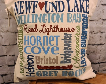 "Newfound Lake  17"" Pillow"