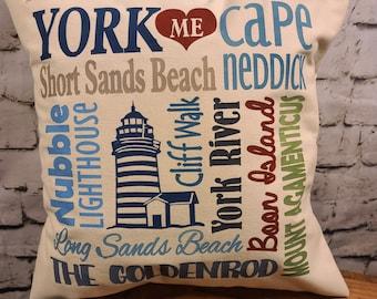 "York Maine 17"" Pillow"