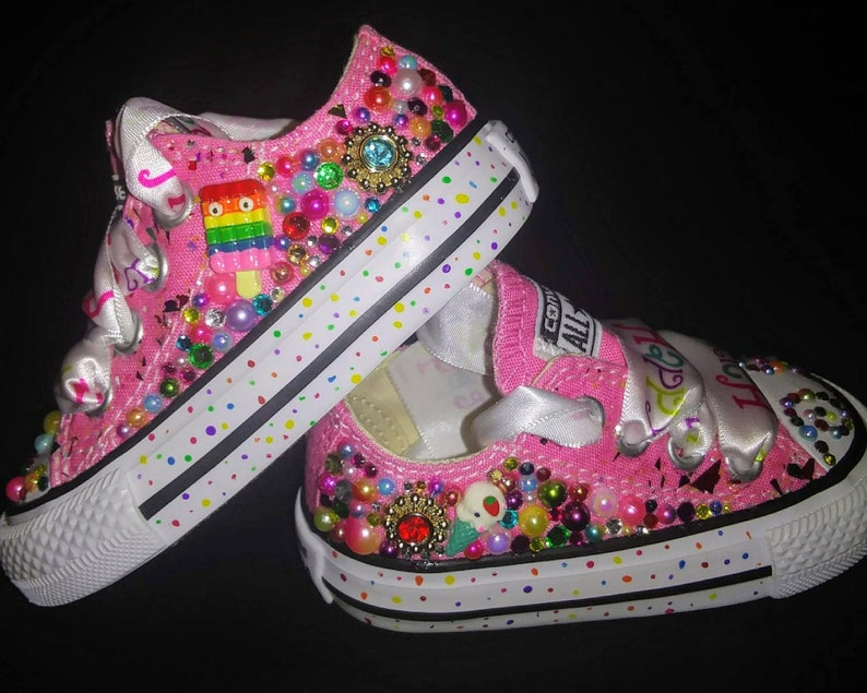 8174660c2717c Custom Candyland/Candy Converse, Rainbow Converse,Bling Converse,Birthday  Shoe,Custom Chucks,Kid Converse,with Free Matching Onesie/ T-Shirt