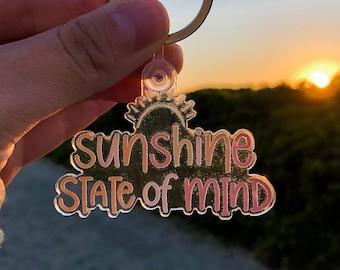 Sunshine Keychain, Keychain for Women, Acrylic Keychain, Colorful Keychain, Summer Keychain