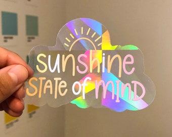 Suncatcher Sticker, Rainbow Suncatcher, Window Decal, Window Sticker, Rainbow Maker, Rainbow Sticker, Sunshine State of Mind, Vinyl Sticker