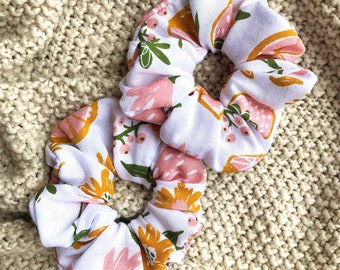 Scrunchies, Hair Ties, Hair Accessories for Women, Tropical Scrunchie, Fruit Scrunchie, Summer Scrunchie, Pink Scrunchies
