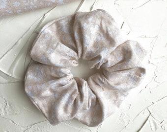 Scrunchies, Hair Ties, Hair Accessories for Women, Floral Scrunchies, Flower Scrunchies, Boho Scrunchies, Neutral Scrunchies
