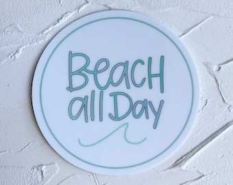 Hydroflask Stickers, Beach Stickers, Stickers with Quotes, Summer Stickers, Die Cut Sticker, Sticker for Laptop, Cute Stickers