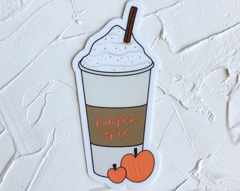 Fall Stickers, PSL Stickers, Pumpkin Spice Sticker, Pumpkin Spice Latte Sticker, Autumn Stickers, Cute Stickers, Stickers for Hydroflask