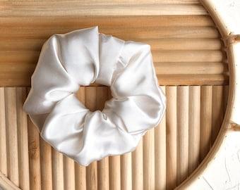 Silk Scrunchies, Scrunchies, Hair Ties, Hair Accessories for Women, Neutral Scrunchies, Cream Scrunchie