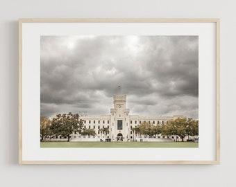 The Citadel, Military College, Charleston Print, Graduation Gift, South Carolina Art, Cadets,  Citadel