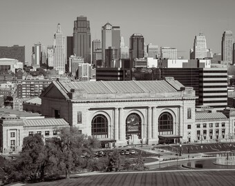 Union Station Kansas City, Kansas City Photography, Train Station, Fine Art Photography, Black & White Photography, Office Decor