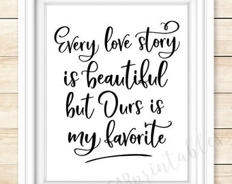 Our Love Story Print Etsy